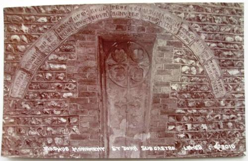 Magnus memorial, St John-sub-Castro Church Lewes, AHC Corder postcard