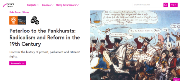 Peterloo on FutureLearn