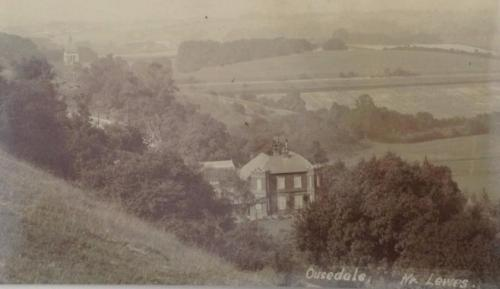 Ousedale House, Offham, Lewes, Edwardian postcard