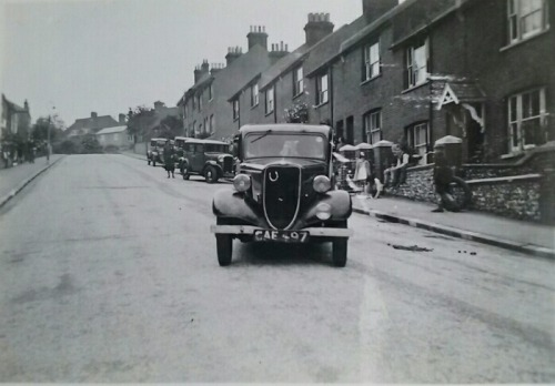 Leicester Road Lewes, postcard