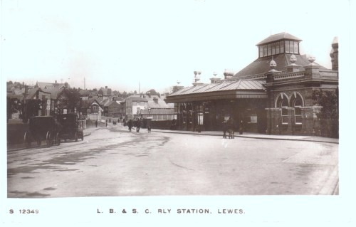 Lewes Railway Station, early 20th Century postcard
