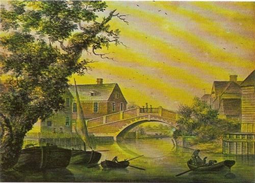 James Lambert view of Lewes Bridge 1781