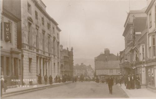 Edwardian Lewes High Street postcard