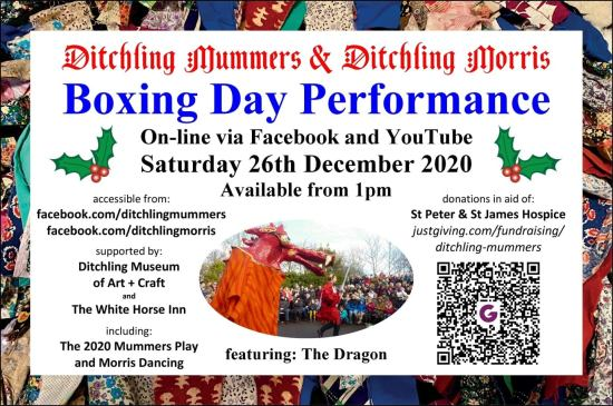 Ditchling Mummers Boxing Day 2020 flyer