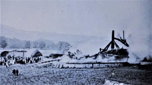 Malling mill on fire September 1908