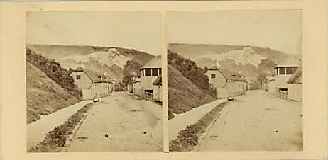 Malling Street, Lewes, Victorian stereo view