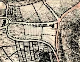 Mill Road, Lewes, map, Yeakell and Gardner 1783