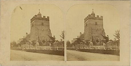 Southover Church, Lewes, Victorian stereo view