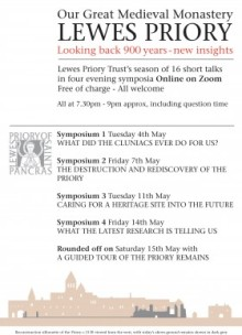 Lewes Priory Trust Symposia May 2021