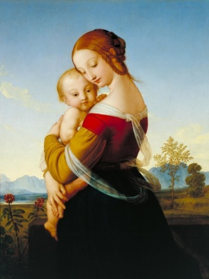 Madonna and Child, William Dyce, c.1830