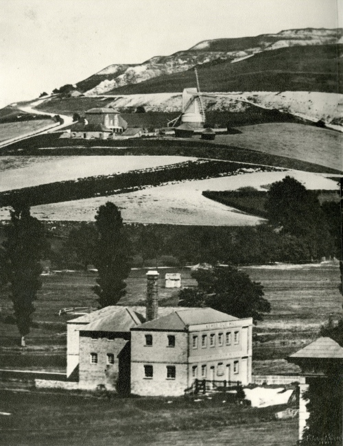 Malling Windmill and Mill House from The Wallands, Reeves, c. 1858-1868