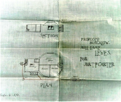 Plan for converting Malling mill to dwelling, 1925