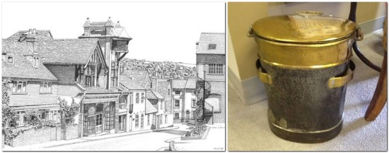 Wallis, West Street Lewes by M Van Dyck, and Lewes Cooperative Society antique bucket