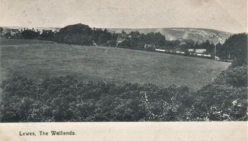 The Wallands, Lewes, Francis Frith postcard postmarked 1904