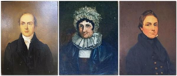 Latter, Sarah, and John Latter Parsons, portraits