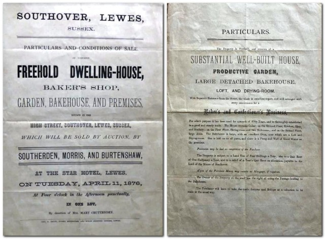 61 Southover High Street, Lewes, 1876 auction particulars