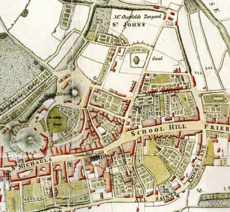 Edwards Map of Lewes 1799, SAS Library