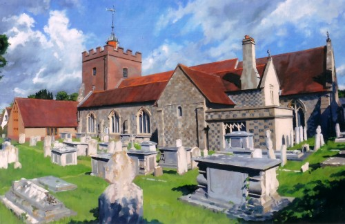 Southover Church from south, by Jeremy Long