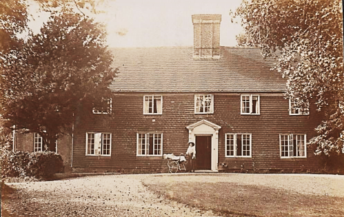 Bliss postcard of farmhouse, posted from Cooksbridge in 1911