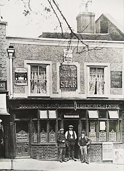 The Morning Star public house, Lewes, photograph c.1910